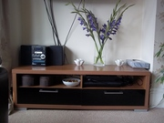 Walnut & Black high gloss Entertainment Unit